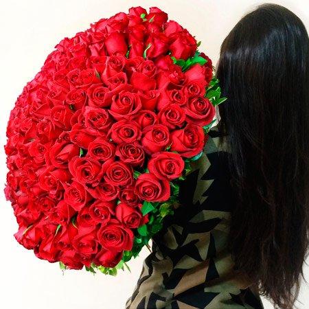 Mega Buquê de Rosas Colombianas Vermelhas - Buquê Romântico