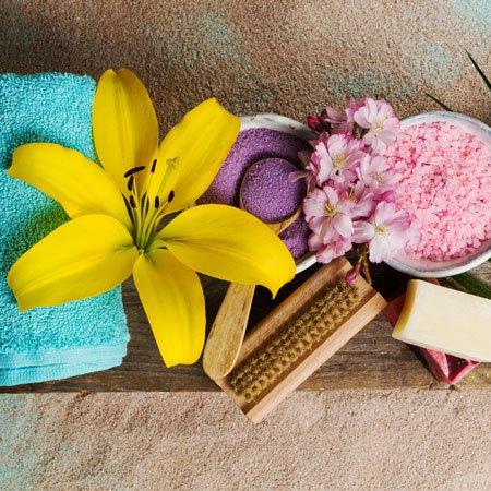 Foto Flores e Produtos de Beleza