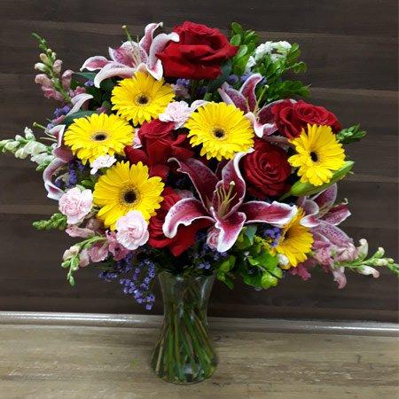 Arranjo com Mix de Flores para decoração