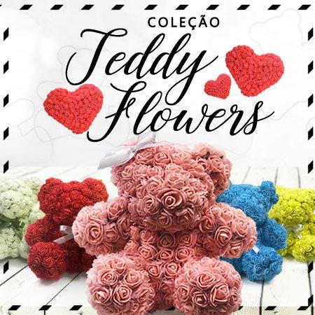 Teddy Flowers - o urso de pelúcia da Giuliana Flores