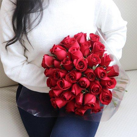 Buquê de Rosas Vermelhas para o Valentine's Day