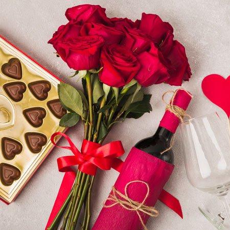 Rosas e Chocolates para uma surpresa romântica