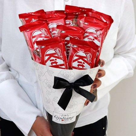 Buquê de chocolate Kit Kat