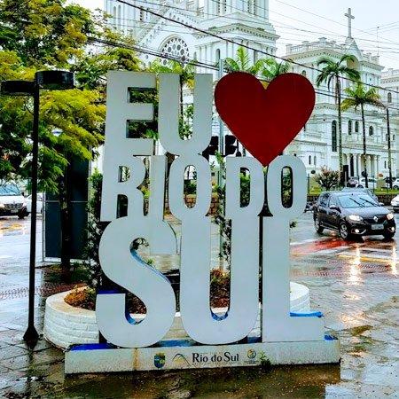 Foto da Cidade de Rio do Sul - Letreiro EU AMO RIO DO SUL