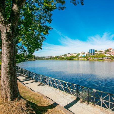 Foto do Lago do Taboão