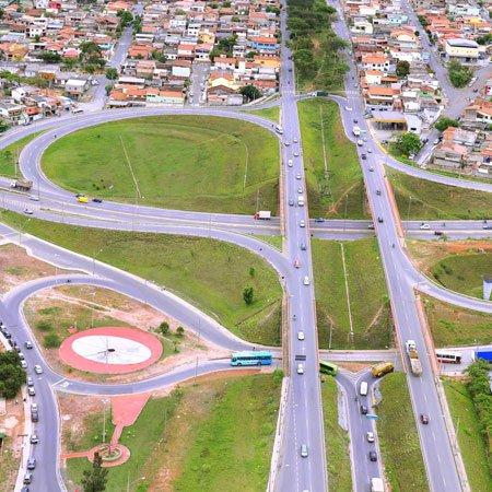 Vista aérea do Viaduto Água Branca