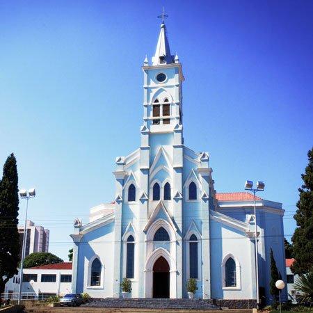Foto da Igreja Matriz da Cidade de Lençõis Paulista
