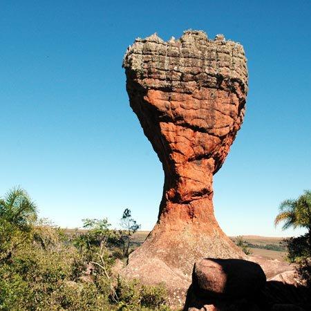 Foto do Parque Estadual de Vila Velha, em Ponta Grossa