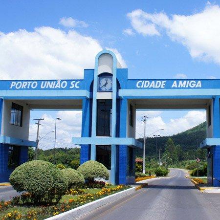 Portão de entrada em Porto União