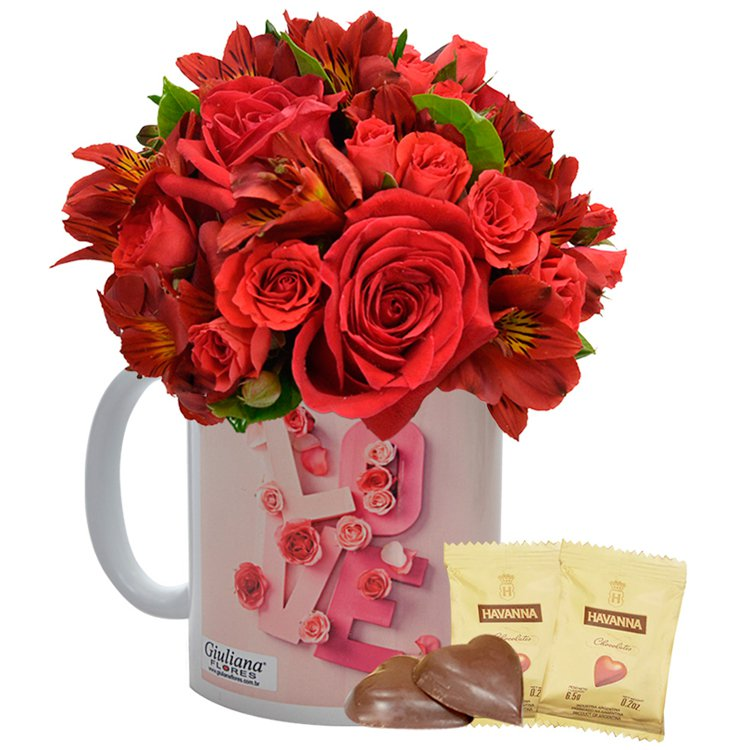 Caneca Love & Chocolates