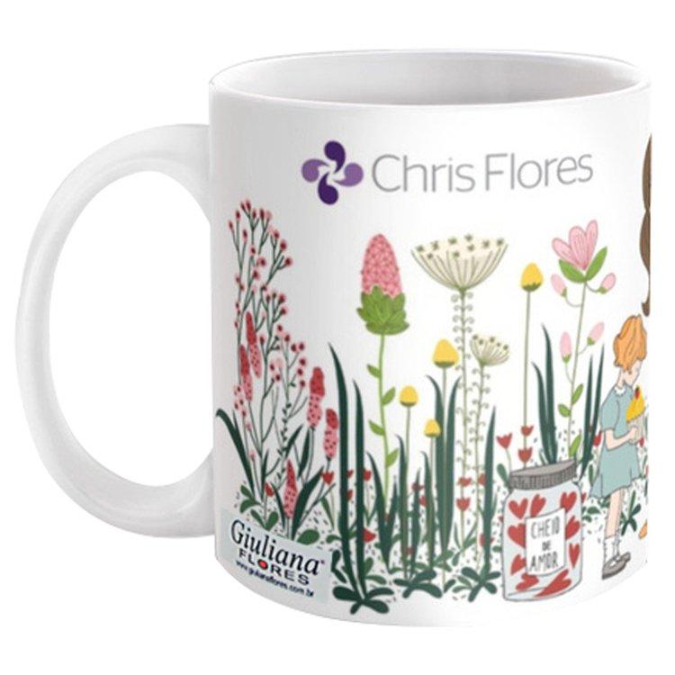 Caneca Chris Flores Cheio de Amor