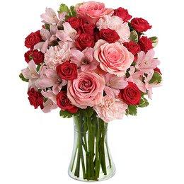 Luxuoso Mix de Flores no Vaso