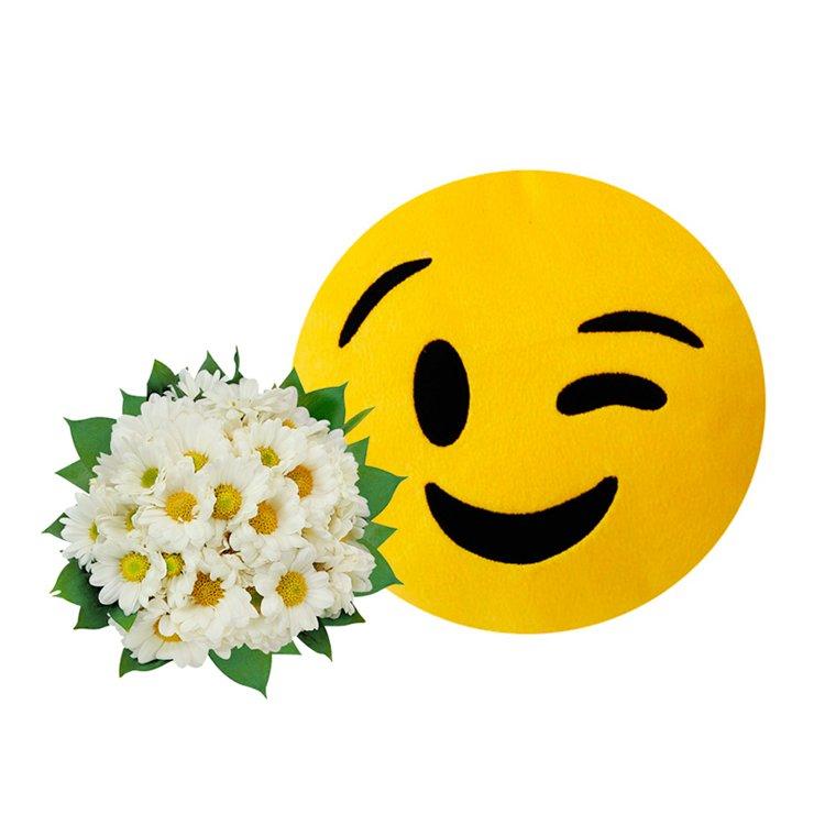 Buquê de Margaridinhas & Emoji Piscadinha