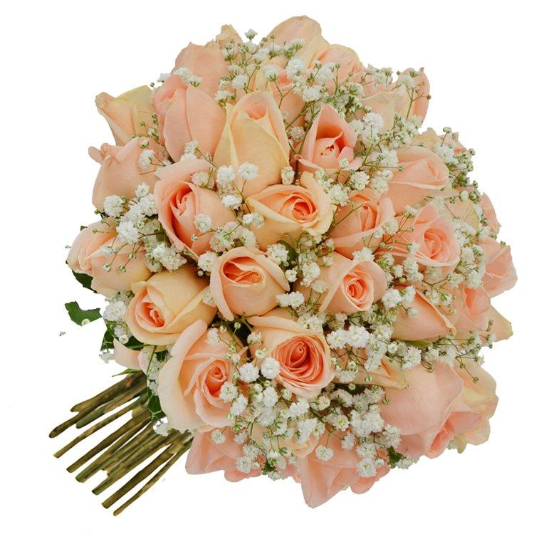 Buquê Tradicional Inspiração Champanhe 24 Rosas