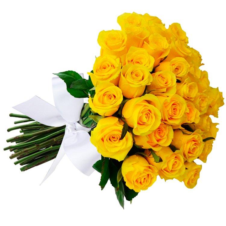 Buquê De 36 Rosas Amarelas Giuliana Flores