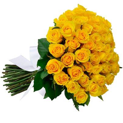 Buquê De 42 Rosas Amarelas Giuliana Flores