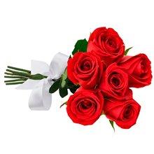 2ec6b7c8dcf Buquê de 6 Rosas Vermelhas