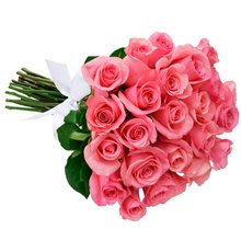 Buquê de 24 Rosas Cor de Rosa