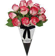Magnífico Cone de Rosas Mescladas