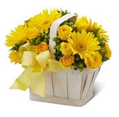Cesta De Flores Amarelas Internacional Giuliana Flores