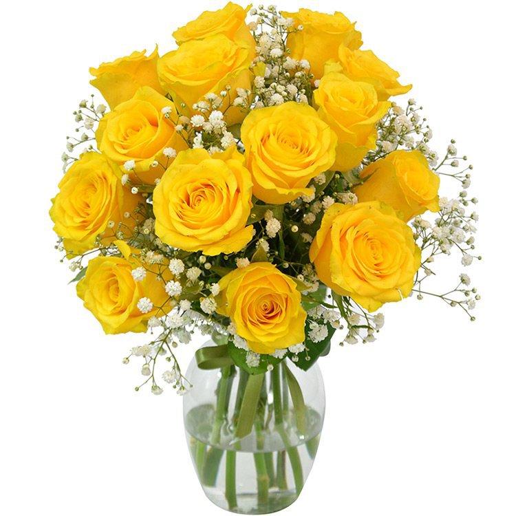 Elegância Das Rosas Amarelas Giuliana Flores