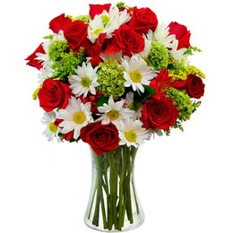 Arranjo Flores e Vida Vermelho
