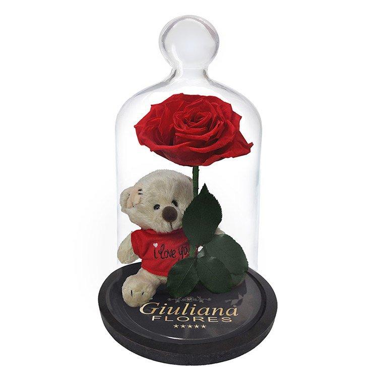 Rosa Encantada com Urso