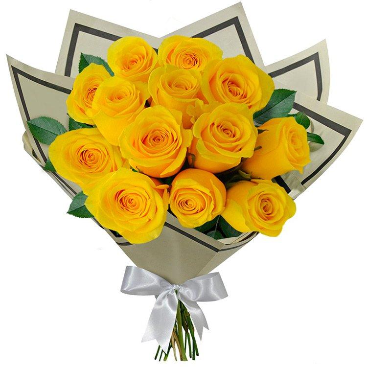 Buquê 12 Rosas Amarela Giuliana Flores