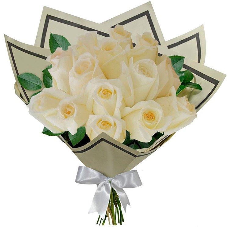 Buquê 12 Rosas Brancas