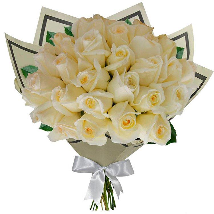 Buquê 36 Rosas Brancas