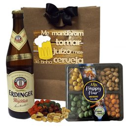 Kit de Cerveja Erdinger Weissbier e Petiscos