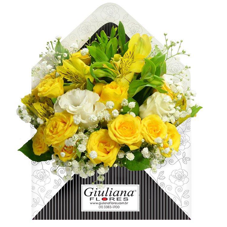 Envelope de Flores Amarelas
