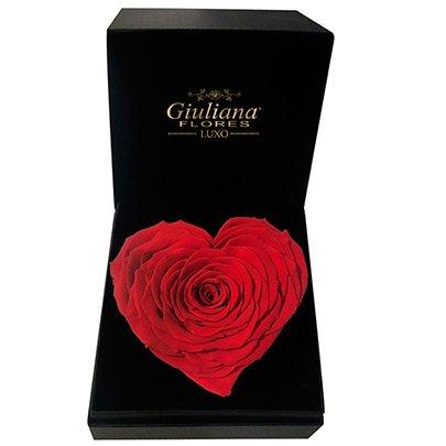 21bebe6b385a Caixa Luxo Rosas Higienizadas Coração   Giuliana Flores