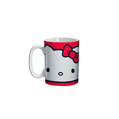 Mini Caneca Vermelha Face - Hello Kitty