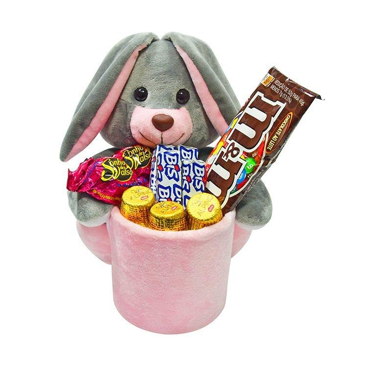 Pelúcia de Coelho com Chocolates