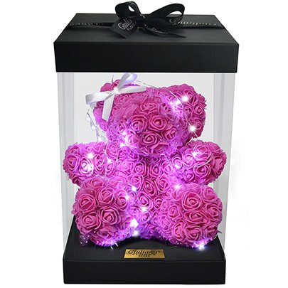Teddy Star Flowers Pink