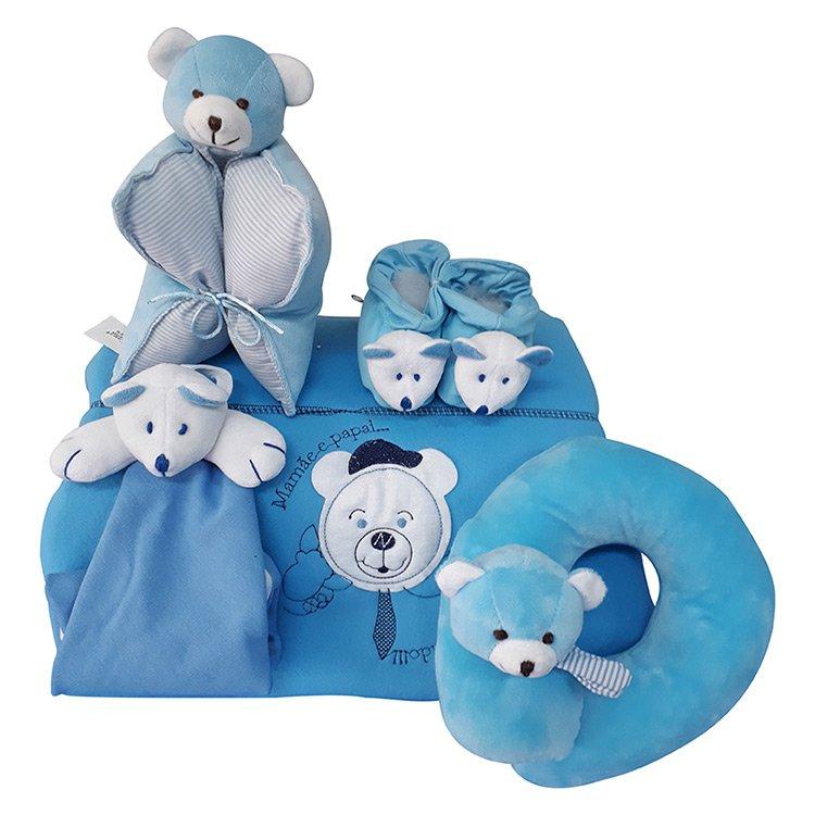 Kit Conforto Azul Para o Bebê