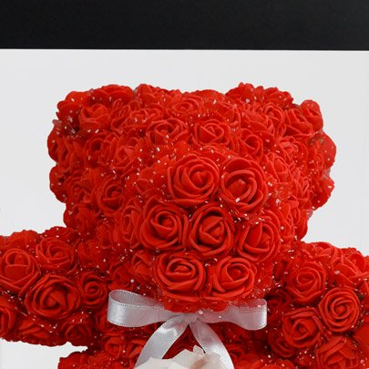 Teddy Flowers Red com Rosa Encantada