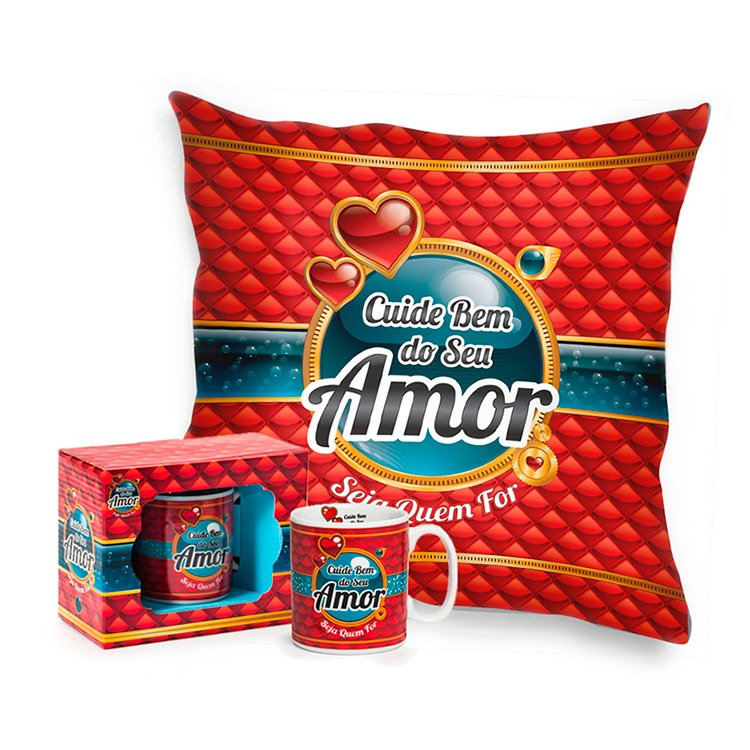Kit Amor Almofada e Caneca