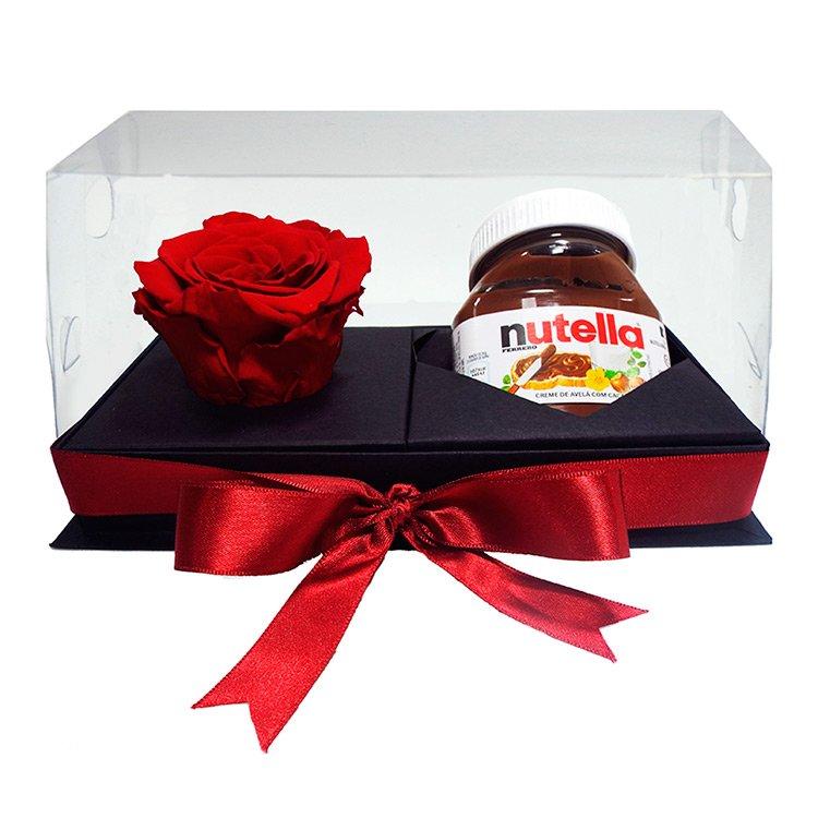 Caixa Presente Rosa Encantada e Nutella