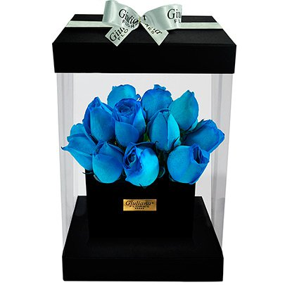 Flower Box Rosa Azul