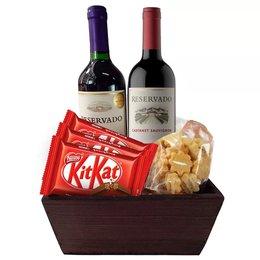 Kit de Chocolates e Vinho Delícia