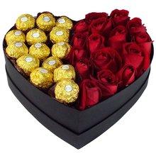 Coração de Delícias e Flores para janeiro apaixonado