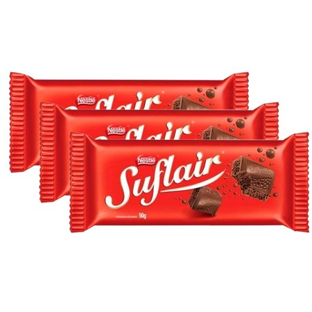 Chocolate Suflair Nestlé 3 Unidades 130g