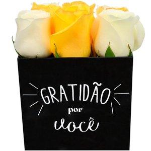 Rosas Amarelas e Brancas Box Gratidão