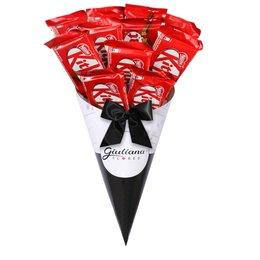 Buquê Magnífico de Chocolates Kit Kat Giuliana Flores e Nestlé