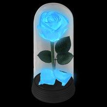 A Bela Rosa Encantada Azul Neon