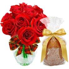 Surpresa de Rosas Natalina com Panetone natal no mundo