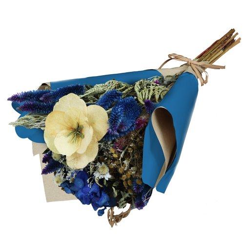 Buquê Poesia de Flores Secas Azuis
