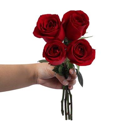 Ramalhete de 4 Rosas Vermelhas